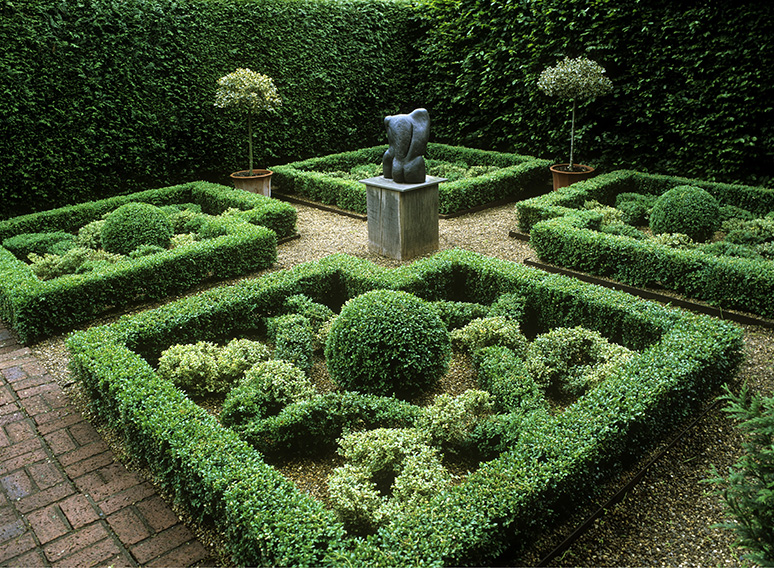 00747051-Fagus-Buxus-formal-knot-garden-sculpture