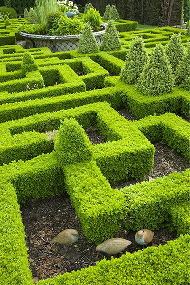 Bourton House Garden, Glos., UK (Paice) knot garden